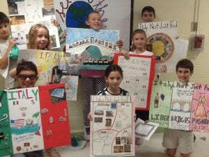 Winners of CLE Italian Heritage poster contest with posters