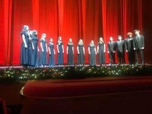 TZHS Concert Choir members performing at Radio City