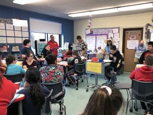 Seventh-grader reads excerpt of his realistic fiction work