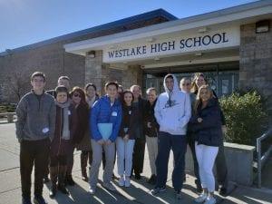 Master Scheduling Team outside Westlake High School