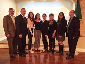 January 2019 Italian Students of the Month with teachers, community leaders