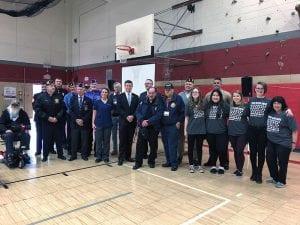 Group of veterans, standing
