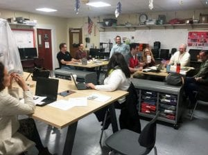 Makerspaces with teachers seated