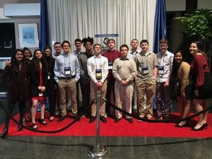 Group of students posed, at DECA State Competition