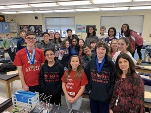 SOMS Science Olympiad team member group photo