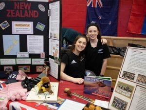 We The People - New Zealand table with two students