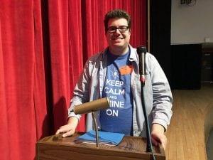 Speaker Andrew Maggio at podium