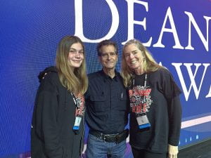 Student, teacher and Dean Kamen