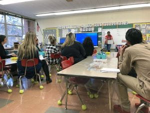 WOS team observes dual language lesson at Paulding School in Tarrytown