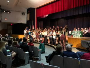 Italian Honor Society Induction