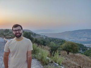 TZHS alumnus Ryan Zohar in Umm Qais, Jordan.