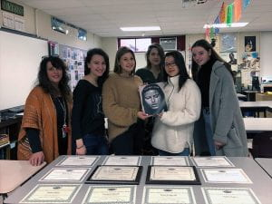 2019 TONES ESSPA award winners with awards displayed