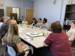 TZHS student focus group meeting with Food Service reps
