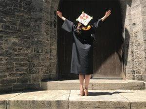 Haley Powers graduates with BSN