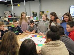 Peer Leaders in sixth grade Explore class