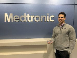 #ProudTZGrad alum Joe Blanchet at his Medtronic co-op