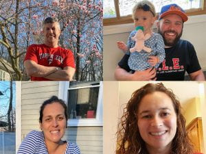 Joe Onativia, Rob Schliessman with child, Maggie White and Melissa Luciano