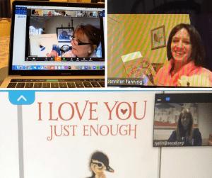 Three teachers doing onscreen read-alouds