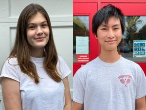 National Merit Commended Students Olivia Steger and Jonathan Young