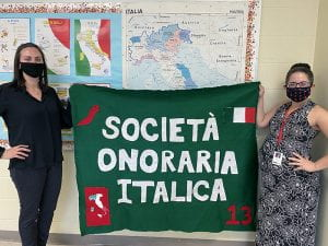Italian language teachers Christina Nilson and Maria Bruno