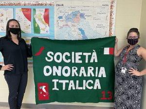 Italian language teachers Christina Nilson and Maria Bruno