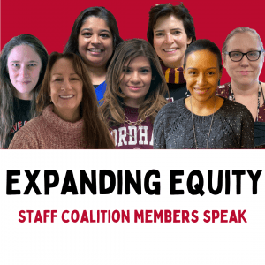 Group photo of staff Equity Coalition members