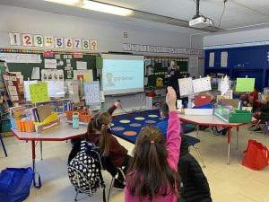Grade 2 students participate in career exploration presentation