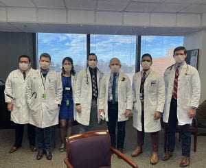 Manuel Cabrera, Dr. Anthony Fauci and NIH team