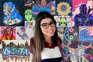 TZHS art and Senior Seminar student Olivia Guerra