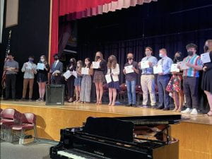 2021 Tri-M Music Honor Society inductees