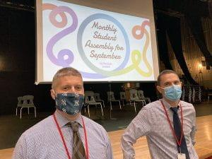 SOMS Principal Chad Corey and AP Joseph Onativia
