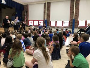 Mr. Yassky and Mr. Hughes perform for WOS second-graders