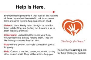 Help Card - Help is Here message