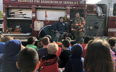 Local Firefighters Talk Fire Prevention With Elementary Students