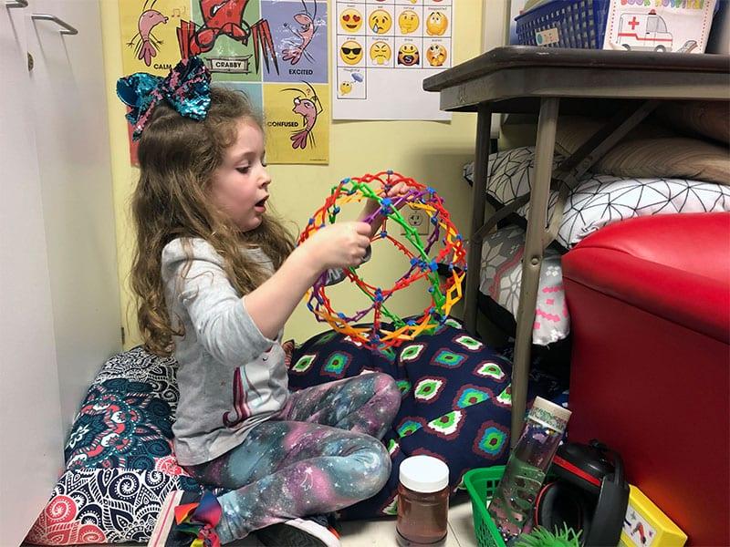 """""""Calm Corner"""" Keeps Kindergarten Learning on Track"""