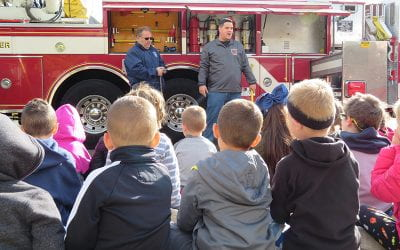 Local Firefighters Visit With Elementary Students to Talk Fire Prevention