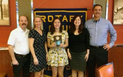 Senior Nicole Gontaryk is October Rotary Student of the Month