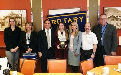 Lange is Rotary Student of the Month