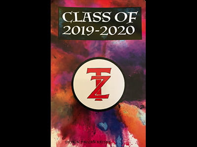 Photo of the 2017-18 TZHS Student Handbook cover