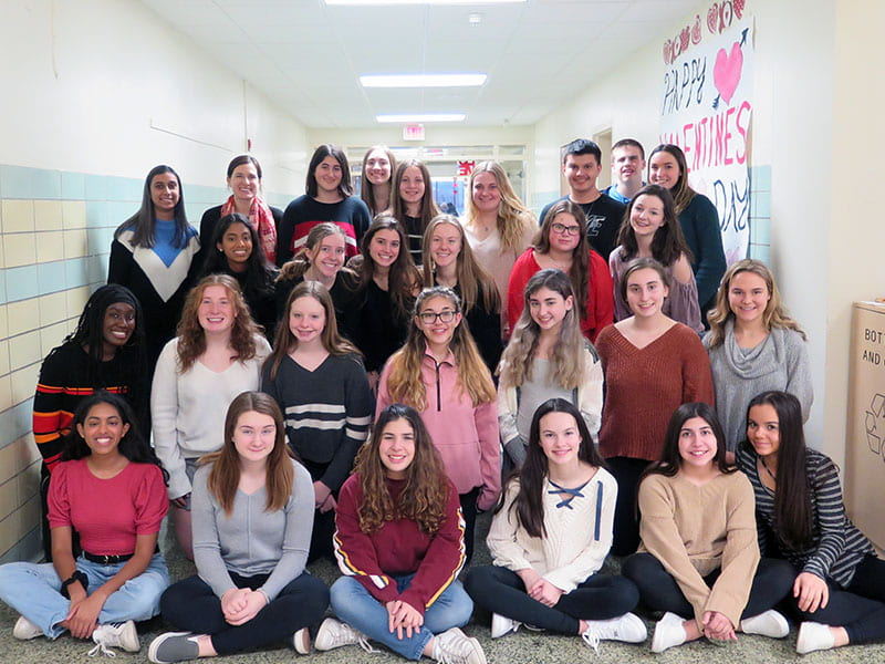 Interact Club Shares the Love with Local Seniors