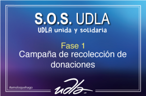 Campaña de recolección de donaciones Universidad de Las Américas
