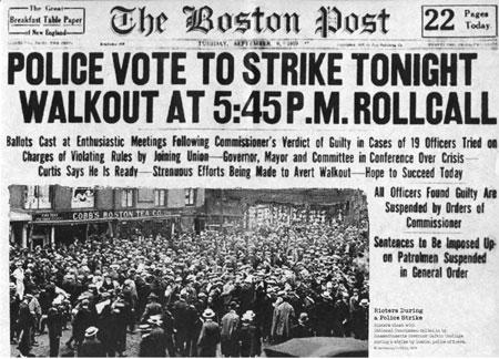 Boston Post article on police strike