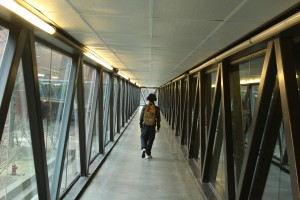 francisco walks in catwalk at UMass