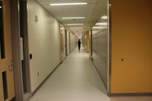 Jailson walks down hall