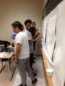 Students gesso paper