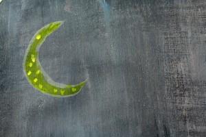 paint texture closeup showing moon pattern
