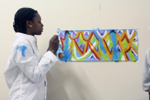 Tarjanae and her painting
