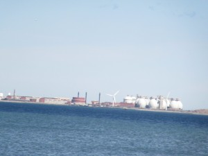 view of harbor facing sewage treatment plant