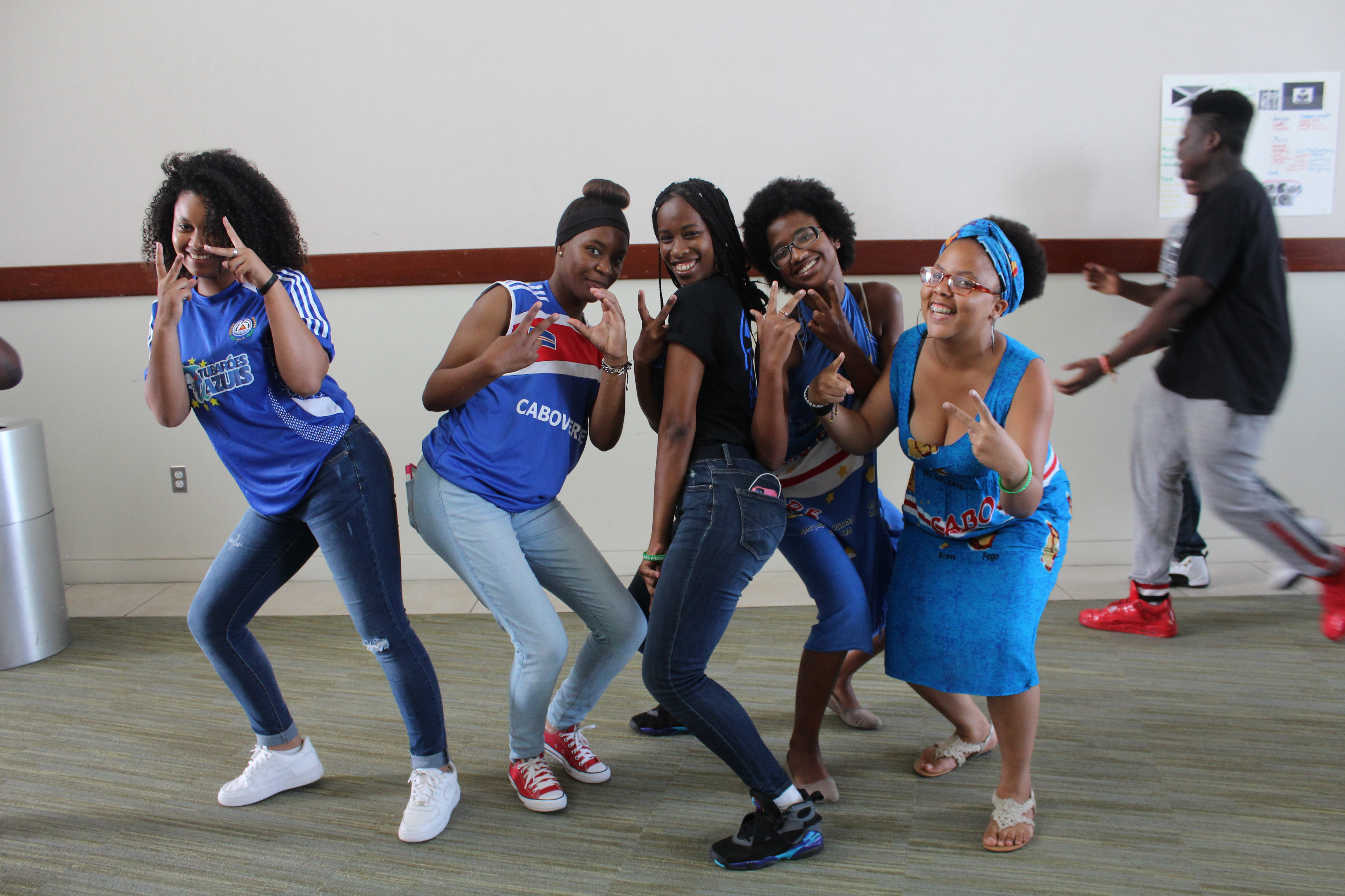 A group of girls from the Urban Scholar come together to representing their country, Cape Verde!