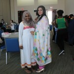 These two staff members came to the event wearing their tradition gown!